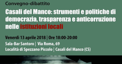 Casali del Manco: la fusione come occasione per sperimentare in Calabria nuove forme di partecipazione e di governo del territorio.