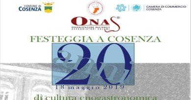 Enogastronomia e Turismo i temi scelti per festeggiare in Calabria il ventennale dell'ONAS