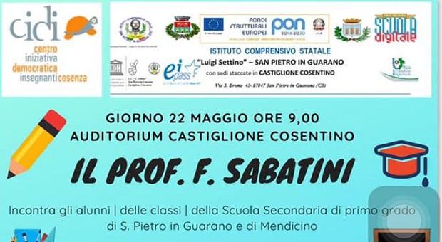 Francesco Sabatini, Presidente dell'Accademia della Crusca a Castiglione Cosentino
